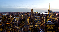 USA, New York, New York City, Manhattan, cityscape with Empire State Building - JLRF000048