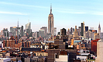 USA, New York, New York City, Manhattan, cityscape with Empire State Building - JLRF000054
