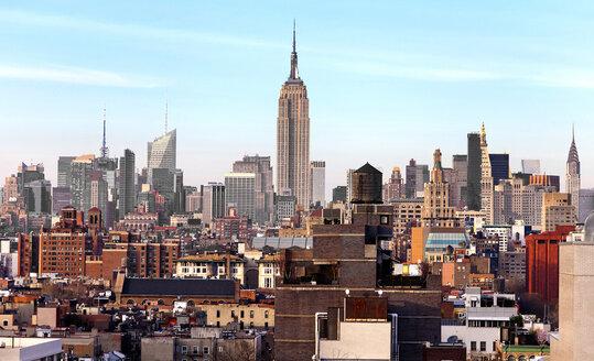 USA, New York, New York City, Manhattan, cityscape with Empire State Building - JLRF000054