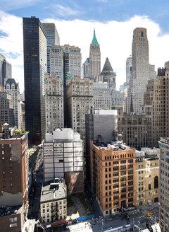 USA, New York, New York City, Manhattan, cityscape with Empire State Building - JLRF000057