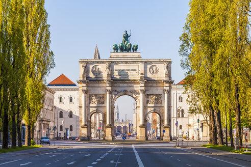 Germany, Bavaria, Munich, Victory Gate - WDF003624