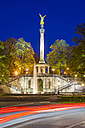 Germany, Munich, view to Friedensengel by night - WDF003639