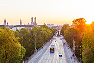 Germany, Munich, view to Maximilianstrasse at twilight - WDF003642