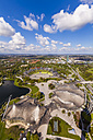 Germany, Munich, Olympic Park with stadium seen from above - WD003654