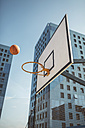 Basketball flying towards hoop - DAPF000148
