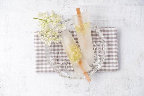 Homemade elderflower popsicles - MYF001547