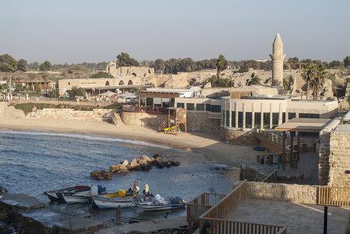 Israel, ancient town Caesarea Maritima, excavation site - HWOF000133