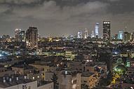 Israel, Tel Aviv, cityscape at night - HWOF000136