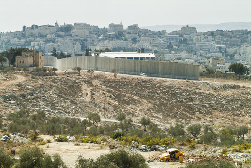 Israel, constructing the wall between Jerusalem and West Bank - HWOF000148
