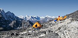 Nepal, Himalaya, Solo Khumbu, Ama Dablam, base camp - ALRF000584