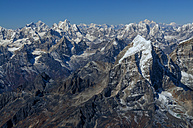 Nepal, Himalaya, Solo Khumbu, Taboche peak from Ama Dablam South West Ridge - ALRF000599