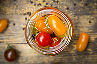 Glass of pickled tomatoes - LVF004998