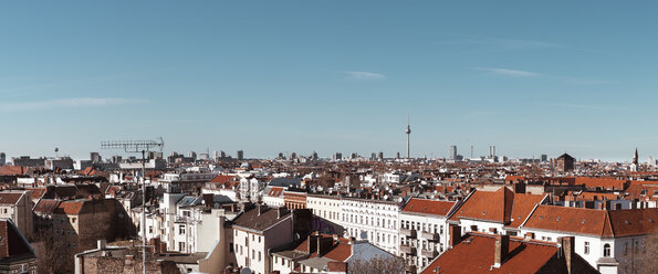 Germany, Berlin, panoramic city view with television tower - ZMF000478