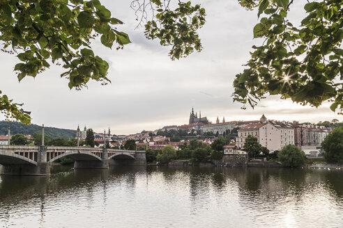 Czechia, Prague, Prague Castle in the evening - MELF000120
