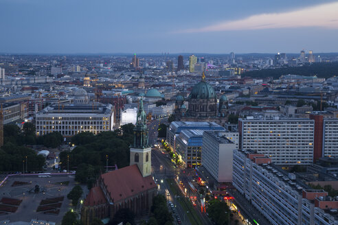 Germany, Berlin, cityscape in the evening - FCF000974