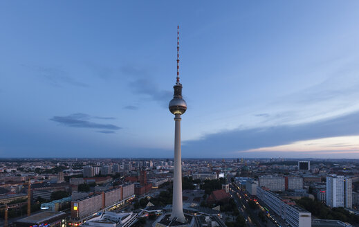 Germany, Berlin, Berlin TV Tower, cityscape in the evening - FCF000980