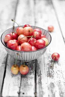 Bowl of organic cherries - CZF000259