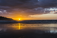 Sunset on the beach - UUF007960