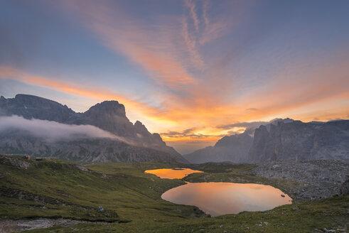 Italy, Dolomites, Lagi di Lavareto at sunrise - MKFF000293