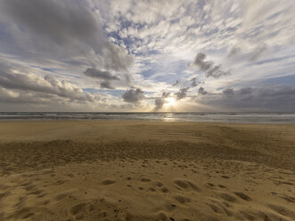 France, Contis Plage, Clouds in the evening - LAF001702