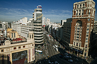Spain, Madrid, Gran Via de Madrid, with the Carrion building - KIJ000498