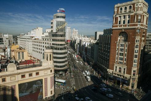 Spain, Madrid, Gran Via de Madrid, with the Carrion building - KIJ000498