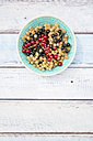 Bowl with mix of black, red and white currants - LVF005106