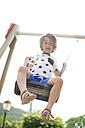 Portrait of little boy on a swing - VABF000669
