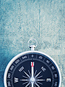Compass on blue background - AHUF000195