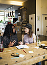 Two women having meeting in cafe - ONF000986