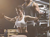 Fitness, couple in gym - MADF001009