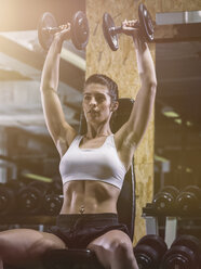 Fitness, woman in gym - MADF001012