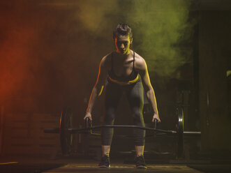 Fitness, woman in gym - MADF001024
