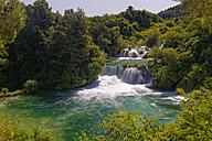 Croatia, Dalmatia, Sibenik-Knin, Krka National Park, Skradinski buk, Waterfall - GFF000706
