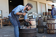 South Africa, Cape Town, cooperage, cooper and wine barrel - ZEF009151