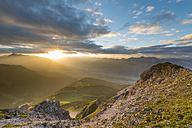 Austria, Tyrol, Stubai Alps, Saile at sunset - MKFF000322