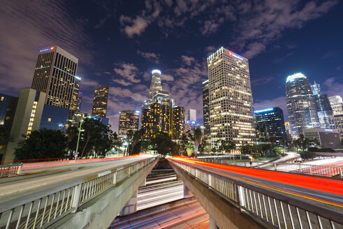 USA, California, Los Angeles, downtown at night - EPF000115