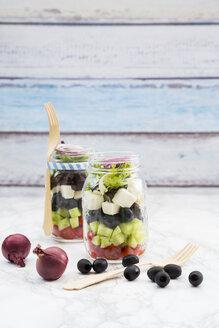 Greek salad in glasses - LVF005155