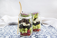 Greek salad in glasses - LVF005158
