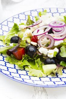 Greek salad on plate - LVF005161