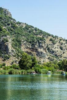 Turkey, Dalyan, Lycian rock tombs of the ancient city Kaunos - THAF001647