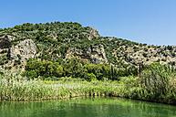 Turkey, Dalyan, Lycian rock tombs of the ancient city Kaunos - THAF001653