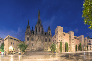 Spain, Barcelona, Cathedral in the evening - YRF000118