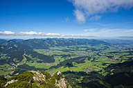 Germany, Bavaria, Allgaeu, panoramic view from Rubihorn to Iller Valley - WGF000910