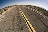 USA, California, Mojave Desert, view of empty route 66 - GIOF001344