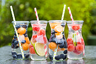 Carafes of miscellaneous fruit infused water - SARF002833