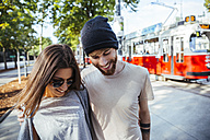 Austria, Vienna, young couple in love - AIF000362