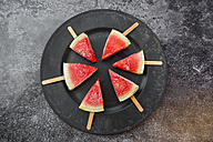 Plate of watermelon popsicles - SARF002839