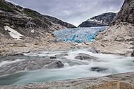 Norway, Sogn og Fjordane, Jostedalsbreen National Park, Nigardsbreen, Glacier tongue - STSF001059