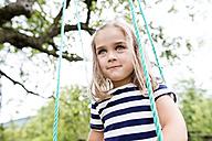 Portrait of little girl on a swing - HAPF000690